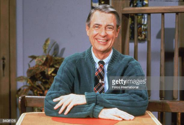 Portrait of American educator and television personality Fred Rogers of the television series 'Mister Rogers' Neighborhood' circa 1980s