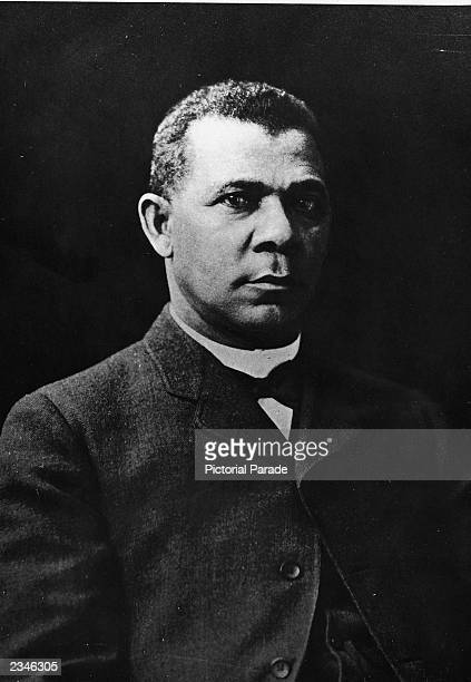 Portrait of American educator Booker T Washington president of the Tuskegee Institute 1880s