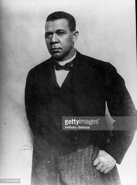Portrait of American educator economist and industrialist Booker T Washington founder of the Tuskegee Institute in Alabama ca 1912