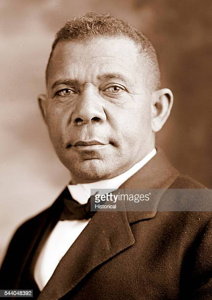 Portrait of Booker T Washington c 1895 toned photograph