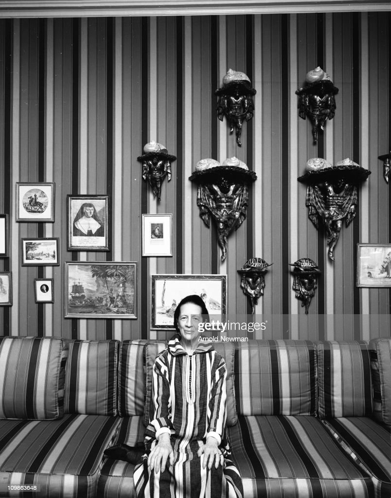 Portrait of American fashion editor Diana Vreeland (1903 - 1989) as she poses in her home, New York, New York, August 25, 1974.