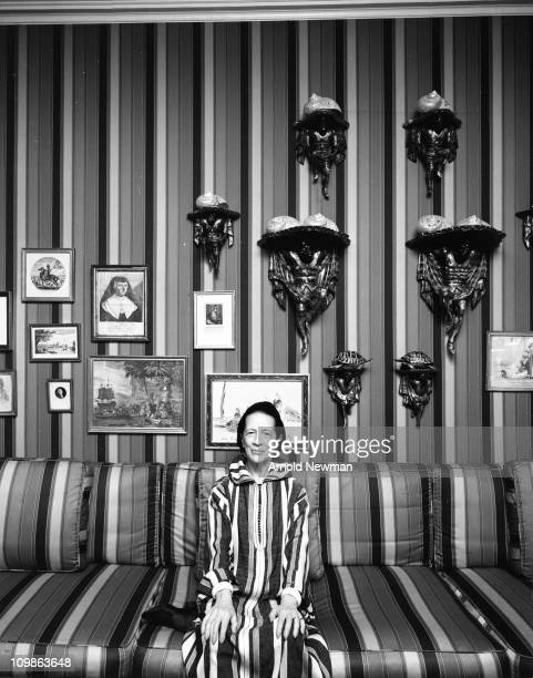 Portrait of American fashion editor Diana Vreeland as she poses in her home New York New York August 25 1974