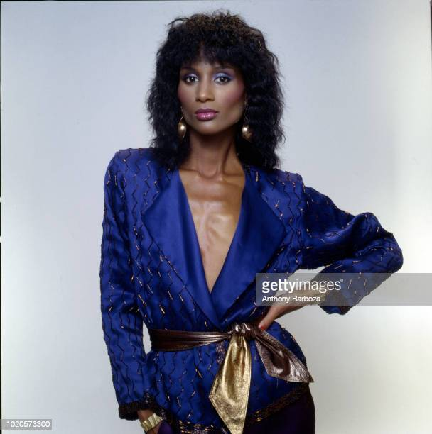 Portrait of American fashion model and actress Beverly Johnson 1980s