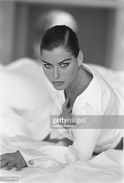 Portrait of American fashion model and actress Carre Otis late 1980s or 1990