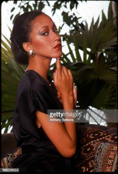 Portrait of American fashion model Pat Cleveland as she poses in a studio New York New York 1970s