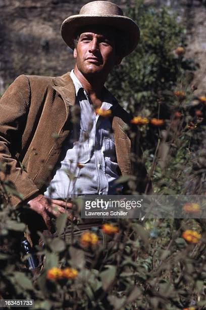 Portrait of American film actor Paul Newman in costume and on set for the film 'Butch Cassidy and the Sundance Kid' Durango Mexico 1968