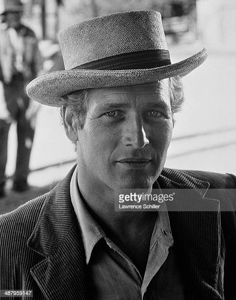 Portrait of American film actor Paul Newman in costume for the film 'Butch Cassidy and the Sundance Kid' Cuernavaca Mexico 1968