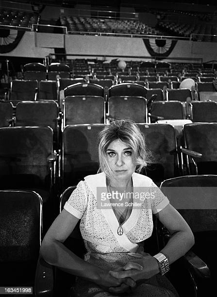 Portrait of American film actress Joanne Woodward on the set of the film 'WUSA' Los Angeles California 1970