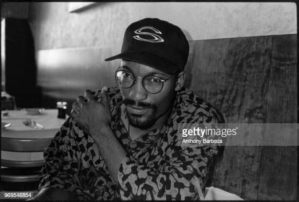 Portrait of American film director John Singleton Los Angeles California late 1980s or early 1990s