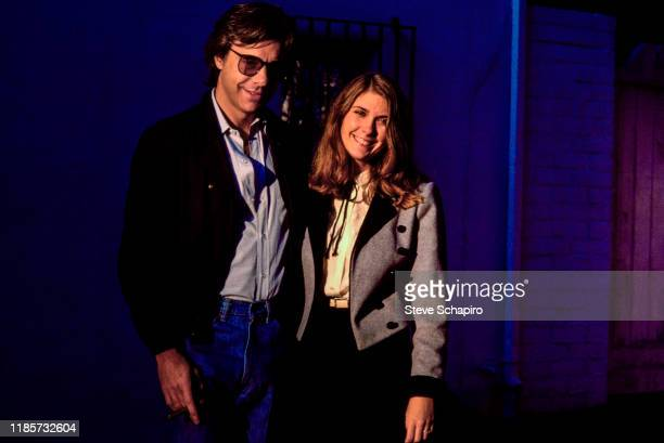 Portrait of American film director Peter Bogdanovich and actress Colleen Camp Los Angeles California 1981