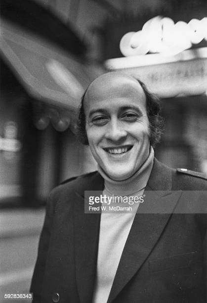Portrait of American film director Richard Lester as he poses on a sidewalk New York New York October 16 1967