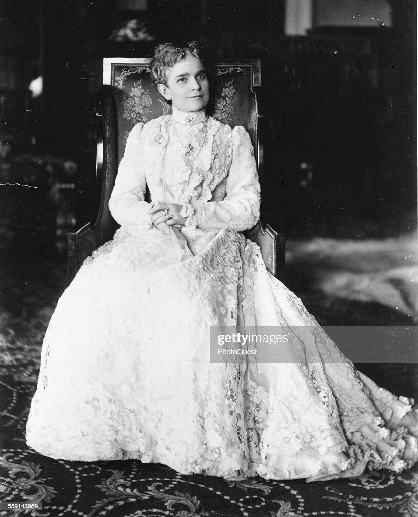 Portrait Of Ida McKinley : News Photo