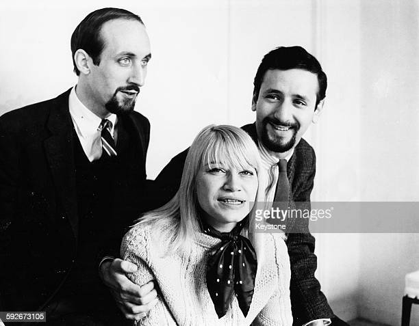 Portrait of American folk band 'Peter Paul and Mary' circa 1965