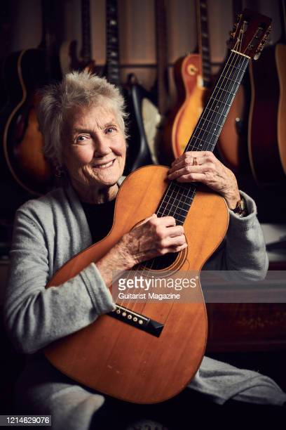 Portrait of American folk musician Peggy Seeger, photographed in New Malden, England, on November 28, 2018.