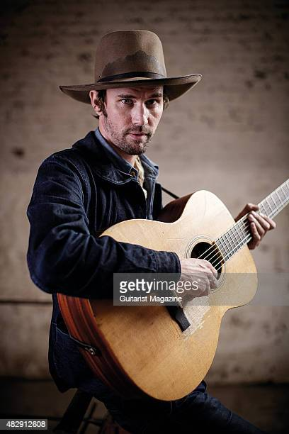 Portrait of American folk musician Willie Watson photographed before a live performance at the Colston Hall in Bristol on September 3 2014 Watson is...