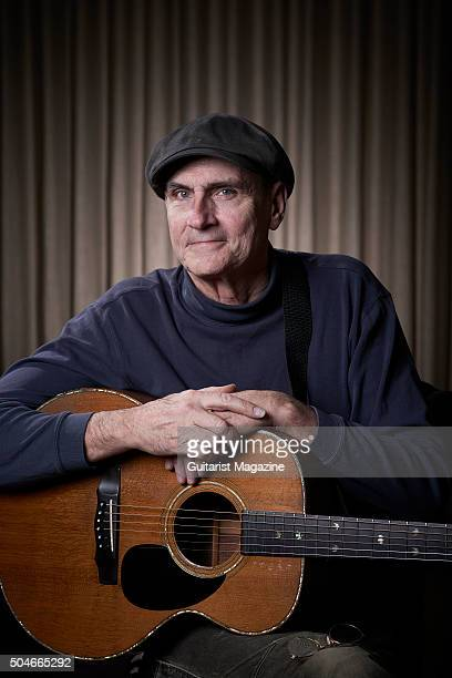 Portrait of American folk rock musician James Taylor photographed at Kensington Garden Hotel in London while promoting his new album Before This...