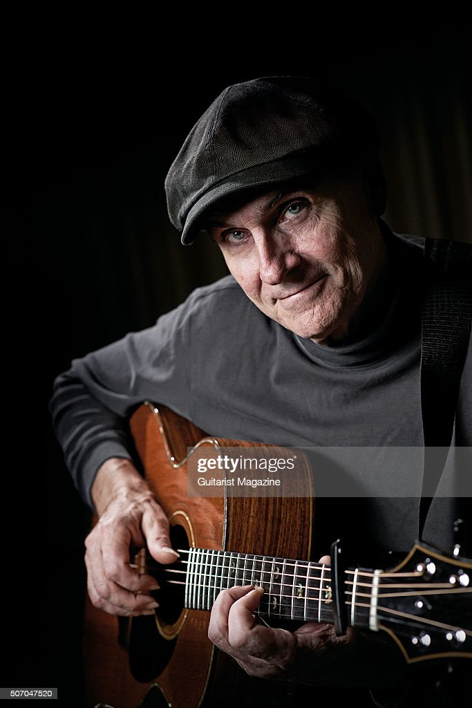 Portrait of American folk rock musician James Taylor, photographed at Kensington Garden Hotel in London while promoting his new album Before This World, on April 27, 2015.