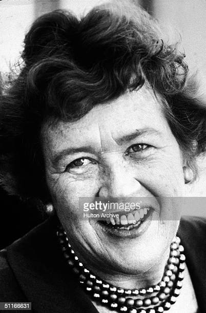 Portrait of American food critic chef and television host Julia Child late 1970s