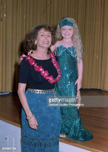 Portrait of American former model Laura Ann Locklear poses with her granddaughter Tiffany Trump during the latter's fifth birthday party at the...