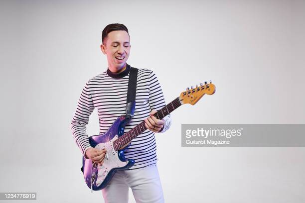 Portrait of American funk rock musician Cory Wong, photographed in Bath, England, on February 20, 2020.