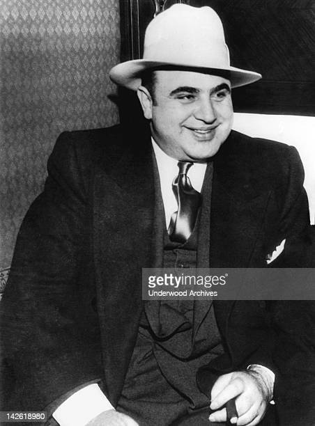 Portrait of American gangster, Al Capone, Chicago, Illinois, January 1, 1930.