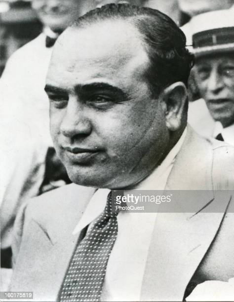 Portrait of American gangster Al Capone , early to mid twentieth century.