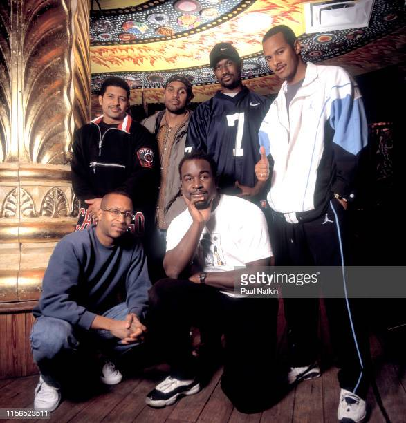 Portrait of American Gospel and RB group Take 6 backstage at the House of Blues Chicago Illinois January 15 1997 The group includes Claude V McKnight...