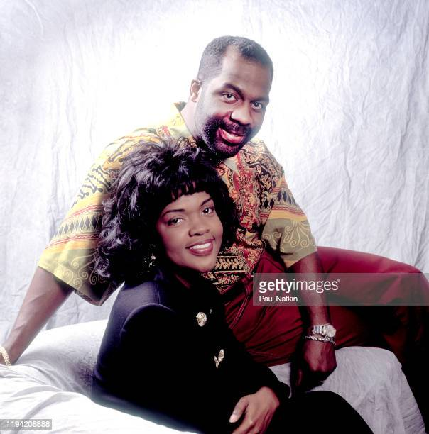 Portrait of American Gospel singers BeBe and CeCe Winans as they pose backstage at the Aire Crown Theater Chicago Illinois February 12 1995