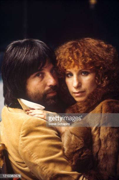 Portrait of American hairdresser Jon Peters and singer actress Barbra Streisand Los Angeles California 1979 The photo was taken as part of a shoot...