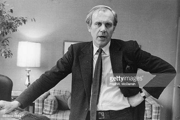 Portrait of American Harper's Magazine editor and author Lewis H Lapham New York New York March 10 1982