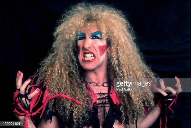Portrait of American Heavy Metal singer Dee Snider of the group Twisted Sister as he poses backstage at the Rosemont Horizon Rosemont Illinois...