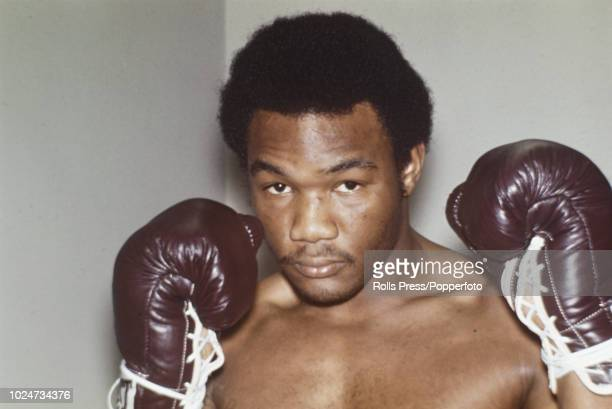 Portrait of American heavyweight boxer and world heavyweight champion George Foreman in New York in January 1973. George Foreman has just returned...