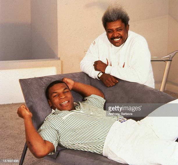 Portrait of American heavyweight boxer Mike Tyson and boxing promotor businessman Don King Los Angeles California May 1988