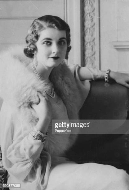 Portrait of American heiress to the Woolworth estate Barbara Hutton circa 1935