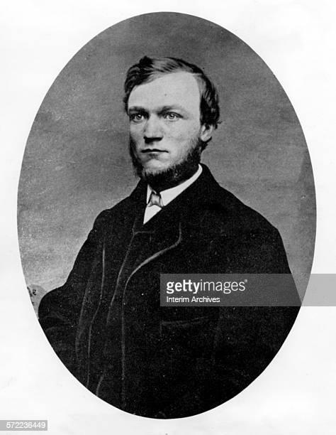 Portrait of American industrialist Andrew Carnegie 1862