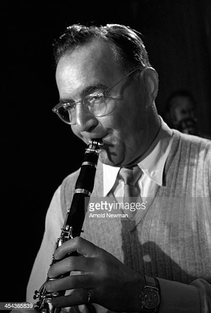 Portrait of American jazz musician and bandleader Benny Goodman as he plays clarinet in a studio at Columbia Records New York New York November 14...