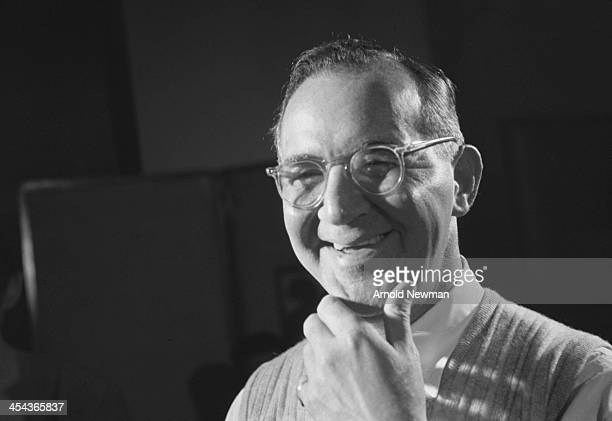 Portrait of American jazz musician and bandleader Benny Goodman in a studio at Columbia Records New York New York November 14 1955
