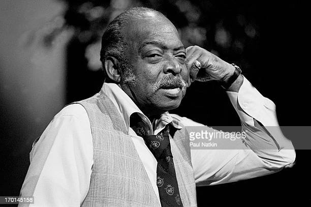 Portrait of American jazz musician Count Basie during the recording of an episode of the PBS television series 'Soundstage' Chicago Illinois...