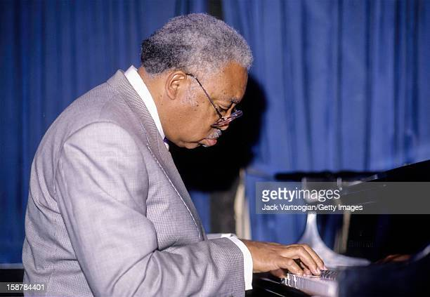 Portrait of American jazz musician Ellis Marsalis Jr plays piano during a performance at The Blue Note nightclub New York New York June 4 1990 The...