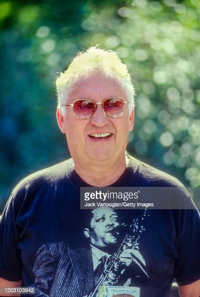 Portrait of American Jazz musician Lee Konitz as he poses backstage at the 5th annual Charlie Parker Jazz Festival in Tompkins Square Park New York...