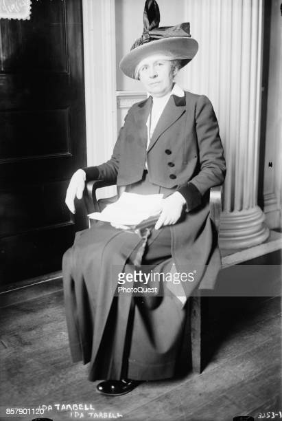 Portrait of American journalist and author Ida Minerva Tarbell Washington DC January 19 1915