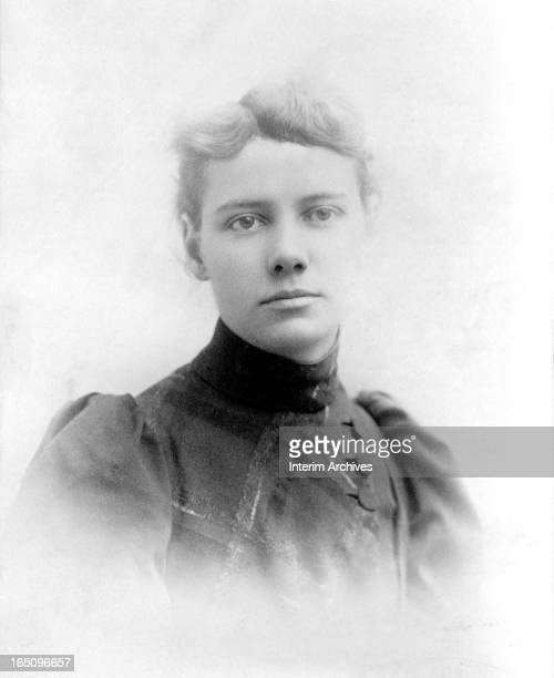 Portrait of American journalist Elizabeth Cochrane who wrote under the name Nellie Bly 1890