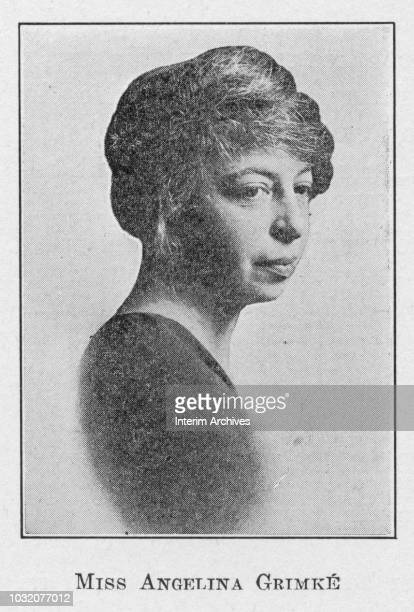Portrait of American journalist, teacher, playwright, and poet Angelina Weld Grimke . The image appears in Robert Thomas Kerlin's book 'Negro Poets...