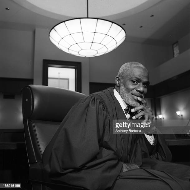 Portrait of American jurist Alan C. Page, Minneopolis, Minnesota, 1990s. Before becoming a judge, Page played in the NFL and is a member of the Pro...