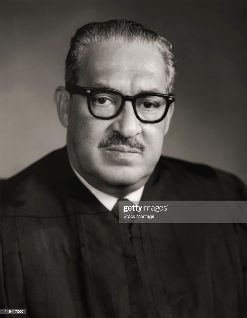 Portrait Of Thurgood Marshall : News Photo