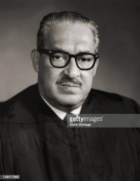 Portrait of American jurist and Supreme Court Justice Thurgood Marshall 20th century