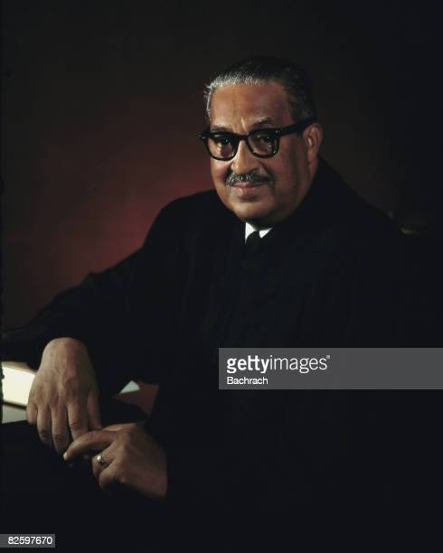 Portrait of American jurist Associate Justice of the United States Supreme Court Thurgood Marshall Washington DC 1967