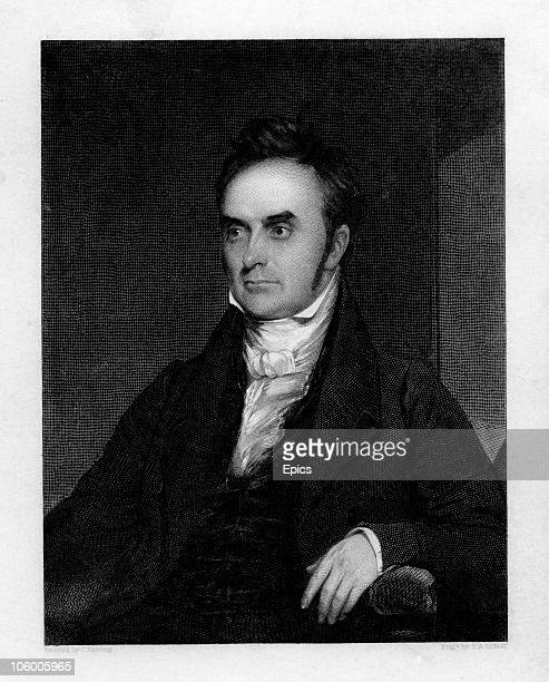 Portrait of American lawyer, politician and statesman Daniel Webster , circa 1830. He was leader of the 'national conservative' movement and a...