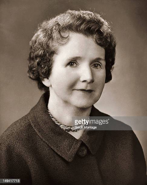 Portrait of American marine biologist and author Rachel Carson , mid 20th century. Her influential 1962 book 'Silent Spring' is widely regarded as...