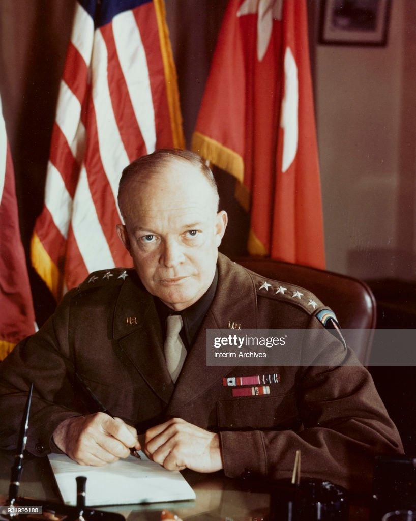 Portrait Of General Eisenhower : News Photo